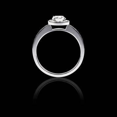 瑞卡 K金密镶钻石订婚戒指