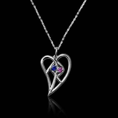 心流 粉红蓝宝石项链