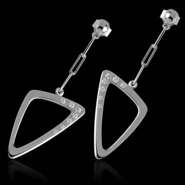 三维 钻石耳环