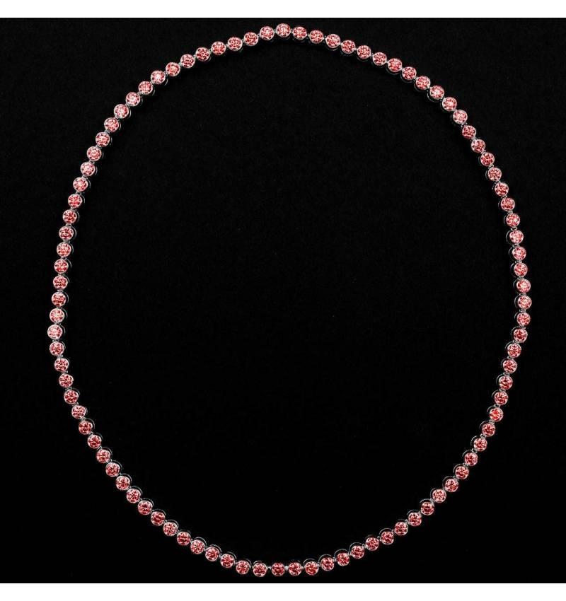 明珠 红宝石项链