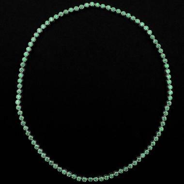 明珠 祖母绿项链