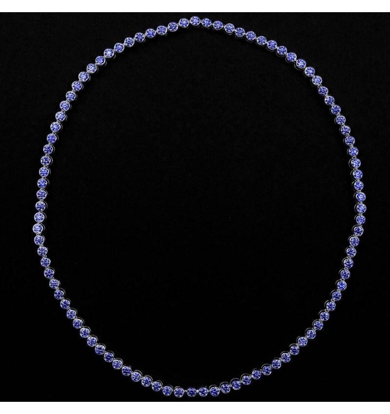 明珠 蓝宝石项链