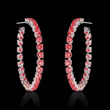 克里奥尔 红宝石耳环
