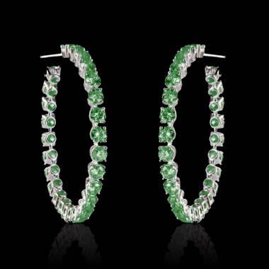 克里奥尔 祖母绿耳环