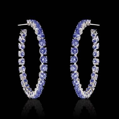 克里奥尔 蓝宝石耳环