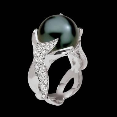 水神黑珍珠戒指