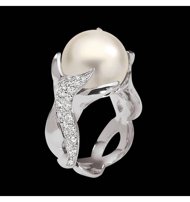 水神白珍珠戒指