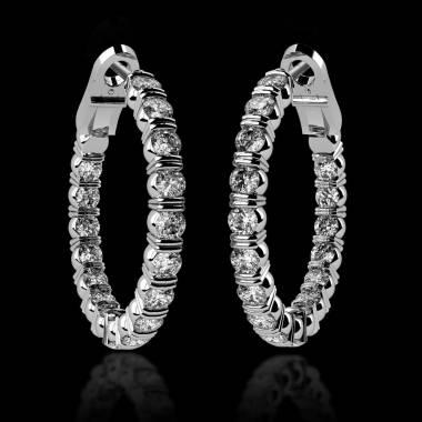 克里奥尔 内镶钻石耳环