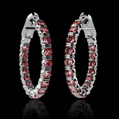 克里奥尔 内镶红宝石耳环