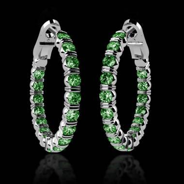克里奥尔 内镶祖母绿耳环