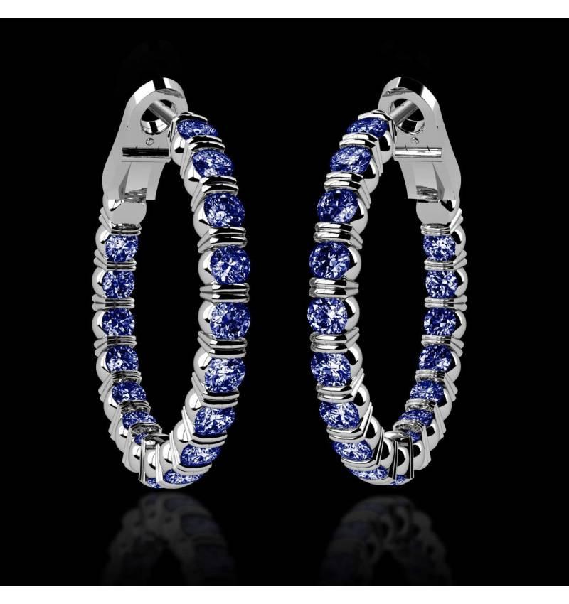 克里奥尔 内镶蓝宝石耳环