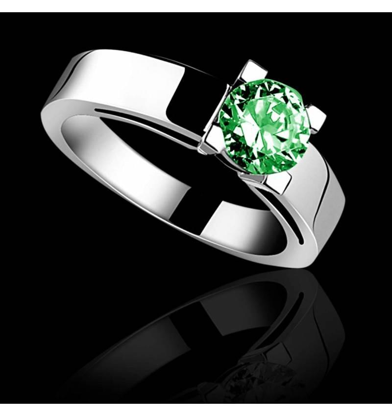 CélineK金单颗祖母绿宝石戒指