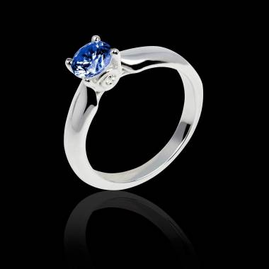 Motherhood白18K金 单颗蓝宝石戒指