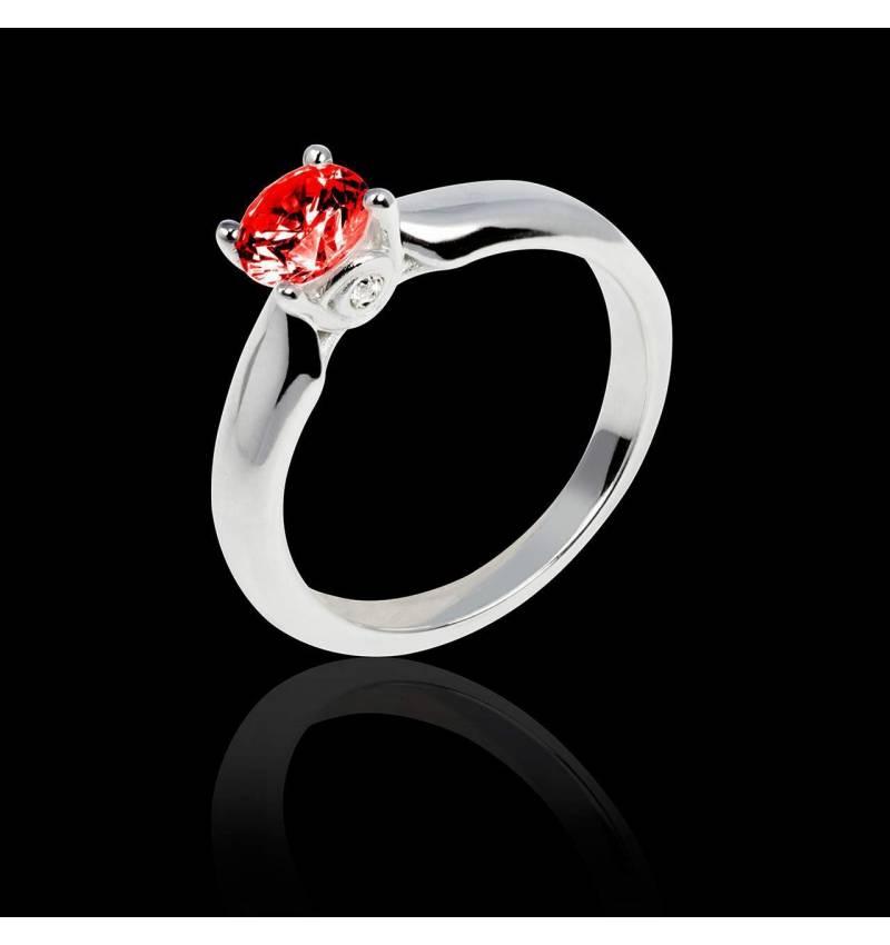 Motherhood白18K金 单颗红宝石戒指