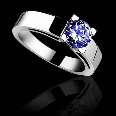 CélineK金单颗蓝宝石戒指