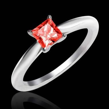 My Love K金单颗红宝石戒指