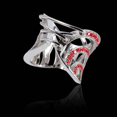 束带红宝石戒指