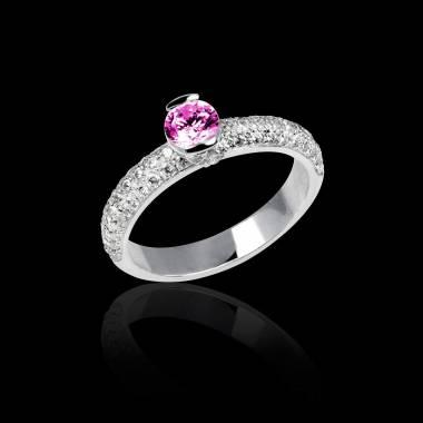 俄耳甫斯 粉红蓝宝石戒指