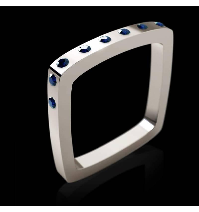 Square 蓝宝石戒指