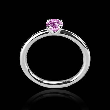 安雅  K金单颗粉红蓝宝石戒指