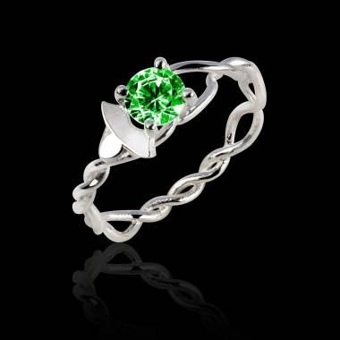 Vigne 祖母绿18K金订婚戒指