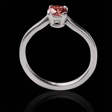 Vanessa solo 18k金单颗圆形红宝石订婚戒指