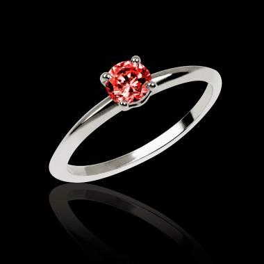 Valentina K金单颗红宝石戒指