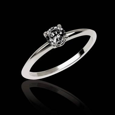 Valentina K金单颗黑钻戒指