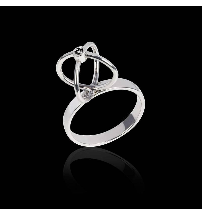 Cage 黑钻戒指