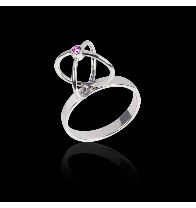 Cage 粉红蓝宝石戒指
