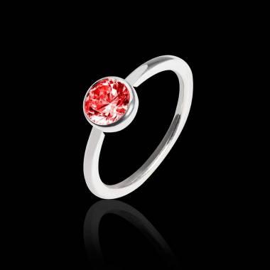 Cristina K金单颗红宝石戒指