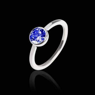 Cristina K金单颗蓝宝石戒指