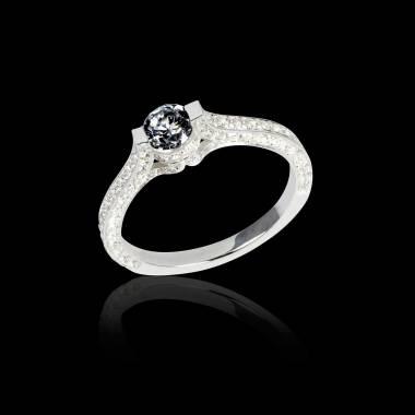 Bague diamant noir Mont Olympus