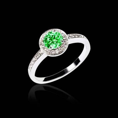 瑞卡 祖母绿订婚戒指
