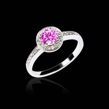 瑞卡 粉红蓝宝石订婚戒指