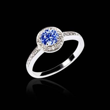 瑞卡 蓝宝石订婚戒指