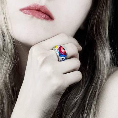 Color Pop 黑钻密镶钻石 戒指