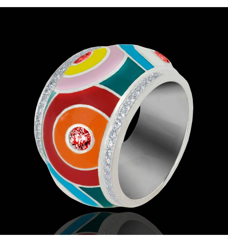 Color Pop 红宝石密镶钻石 戒指