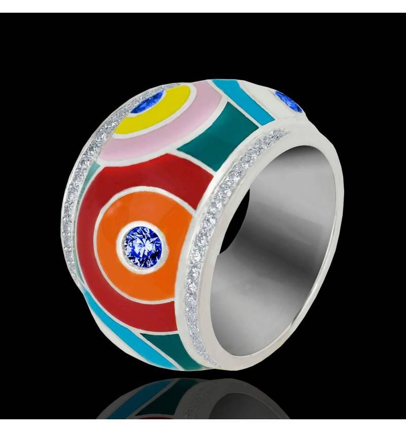 Color Pop 蓝宝石 密镶钻石 戒指
