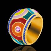 Color Pop 粉红蓝宝石 密镶钻石 戒指
