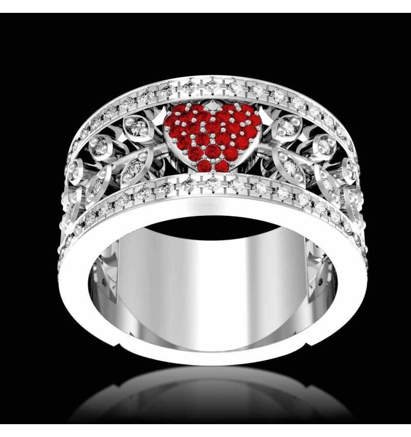 花爱 红宝石 订婚戒指