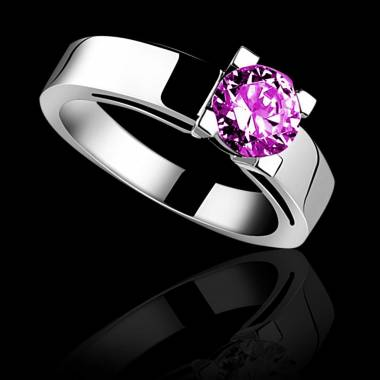 CélineK金单颗粉红蓝宝石戒指