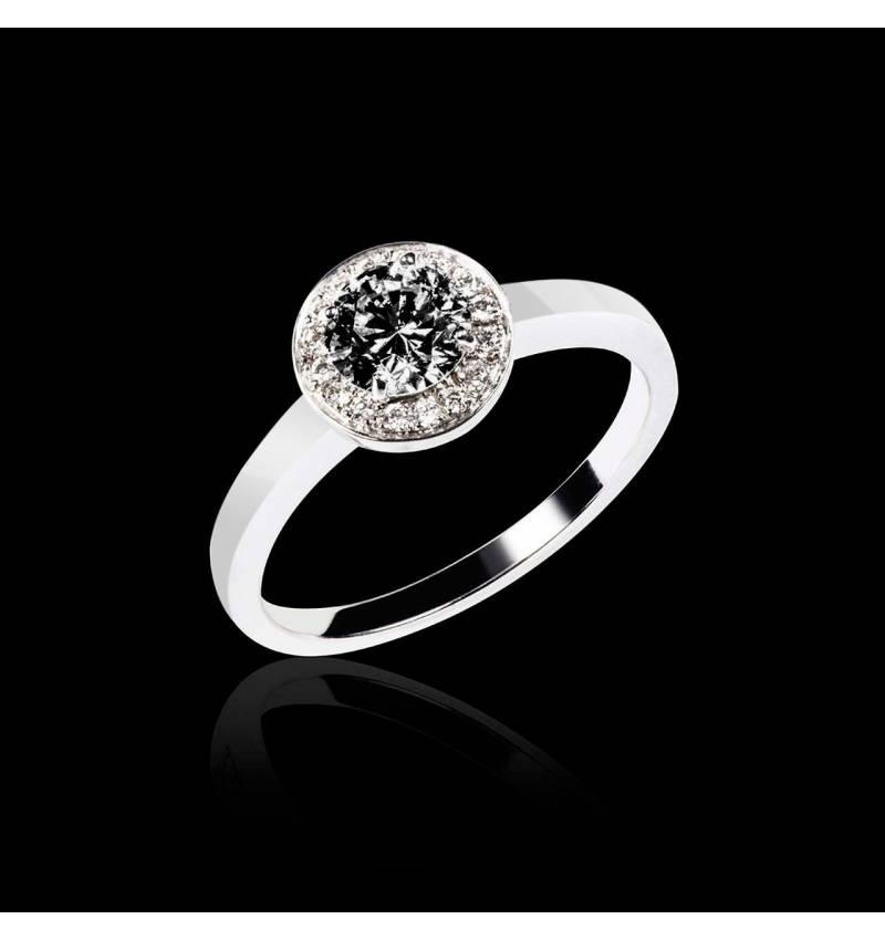 瑞卡Solo 单颗黑钻戒指