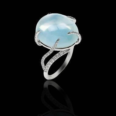 月之石钻石戒指