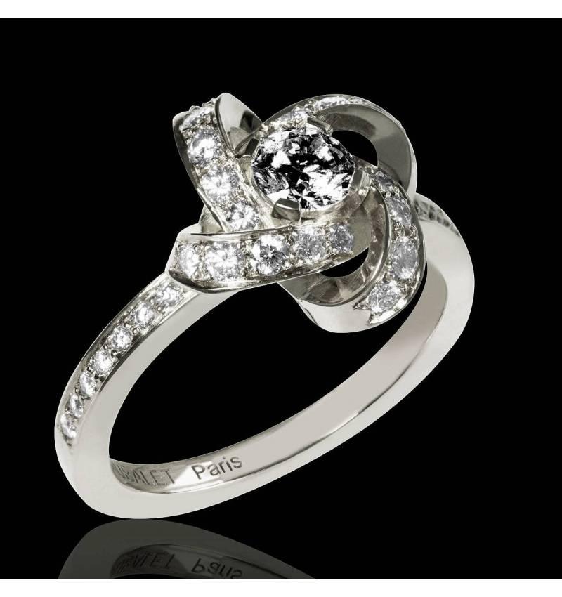 Chloe 黑钻戒指