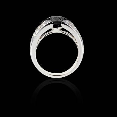 伊莎贝尔 黑钻戒指