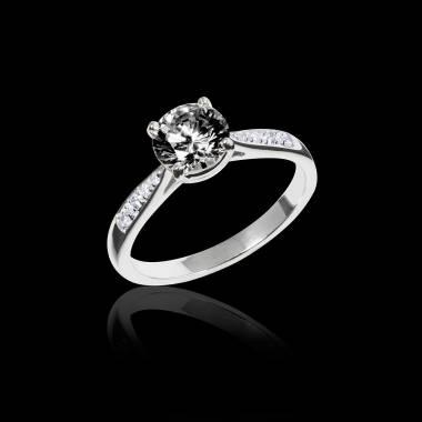 Angela 黑钻订婚戒指