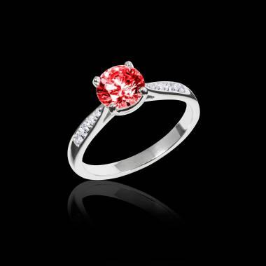 Angela 红宝石订婚戒指