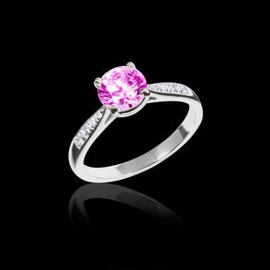 Angela 粉红蓝宝石订婚戒指