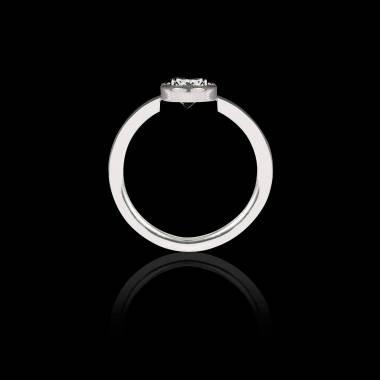Cristina k金单颗黑色钻石戒指